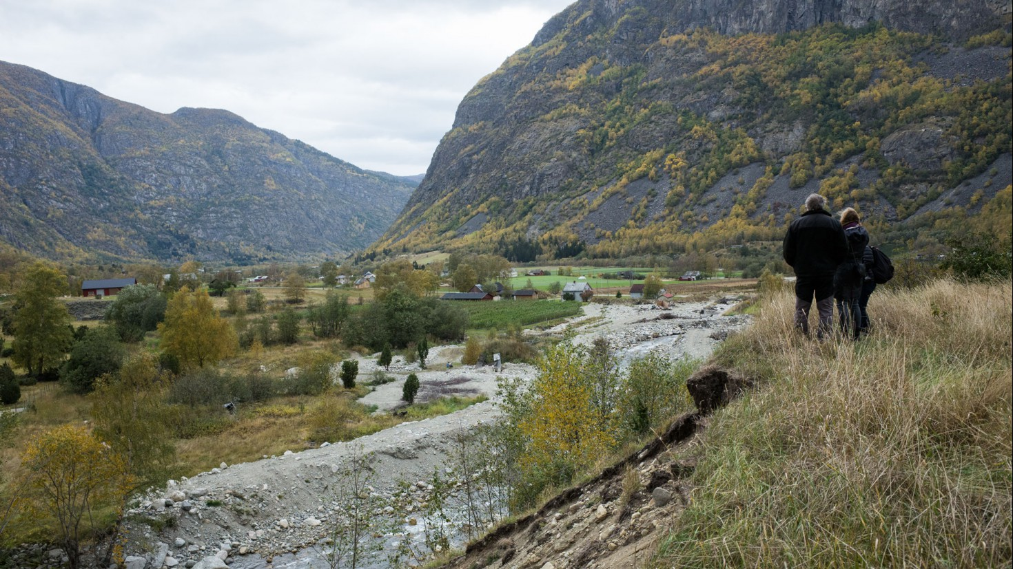 aftermath of flooding in the lærdal valley. Photo: eilif ursin reed