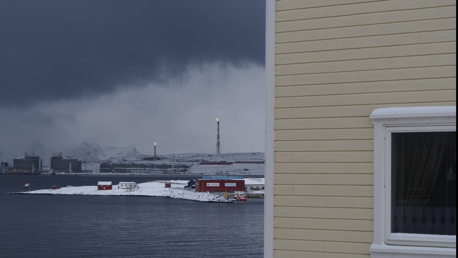 The Melkøya plant in Hammerfest, norway, 2013
