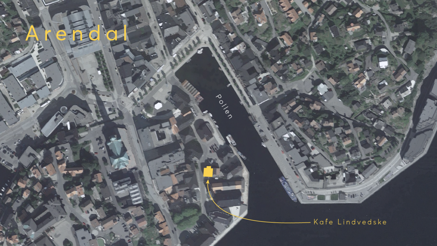 VI holder til på kafe lindvedske under arendalsuka (kart: google maps)