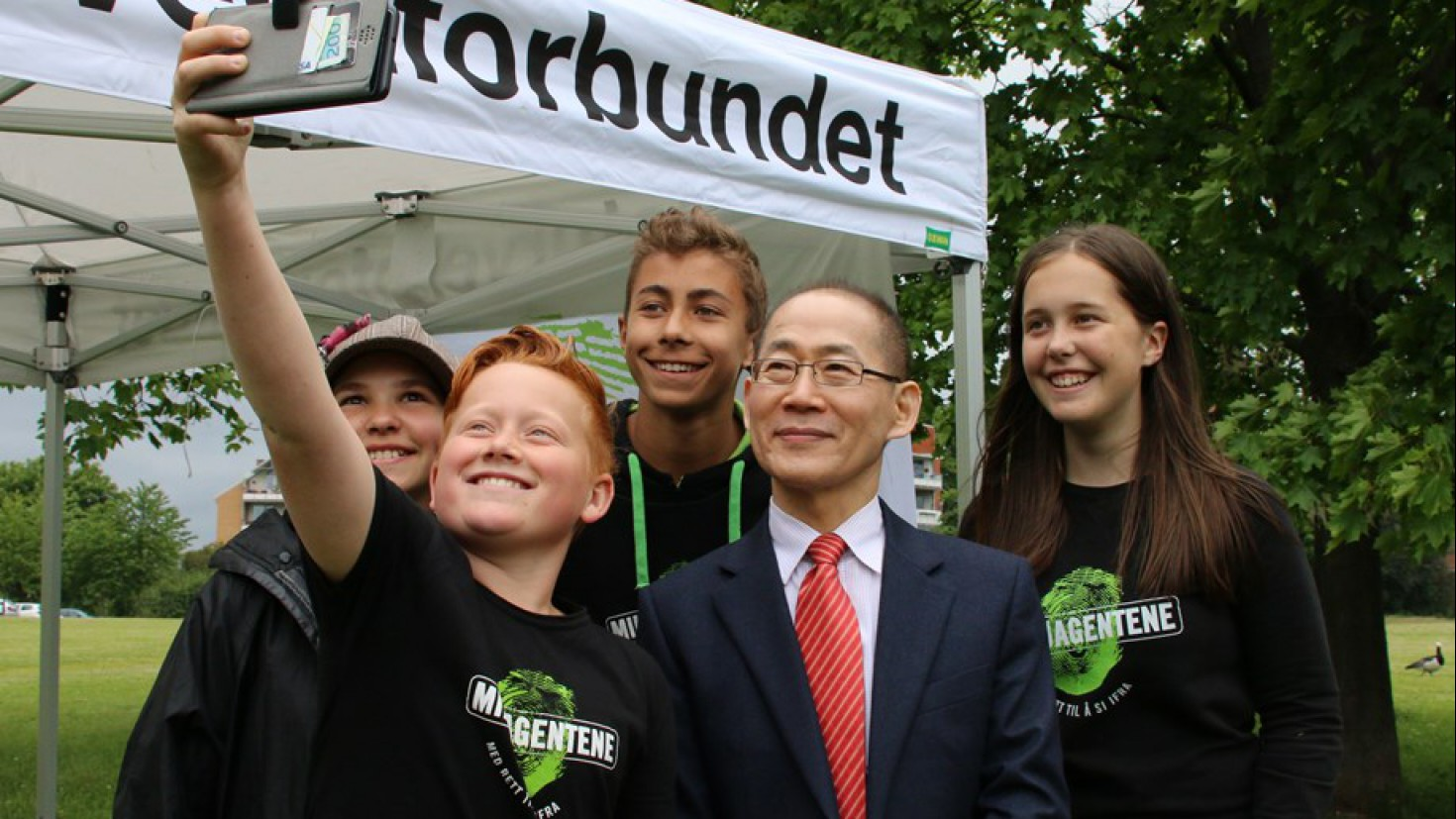 IPCC leader HOESUNG LEE HAD A HIGH LEVEL MEETING WITH THE CHILDRENS CLIMATE PANEL DURING HIS VISIT TO NORWAY in 2016. PHOTO: NORWEGIAN ENVIRONMENT AGENCY