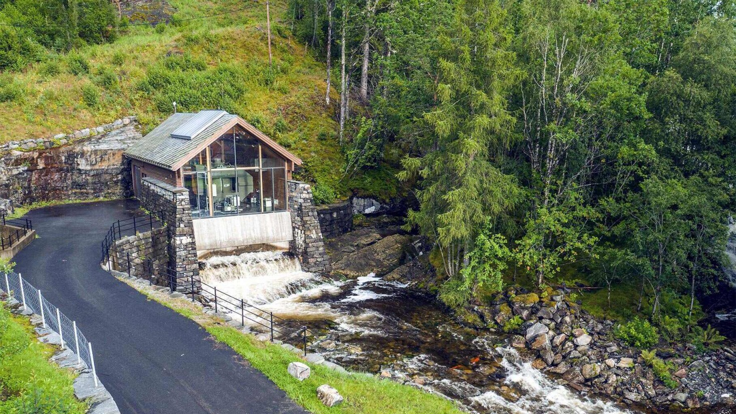 An example of a small-scale hydropower plant: The Alsaker power plant in kvinnherad municipality in Western Norway. Photo by småkraft as.